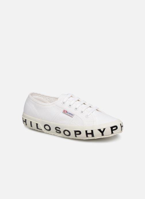 Baskets Philosophy x Superga Sofia Blanc vue détail/paire