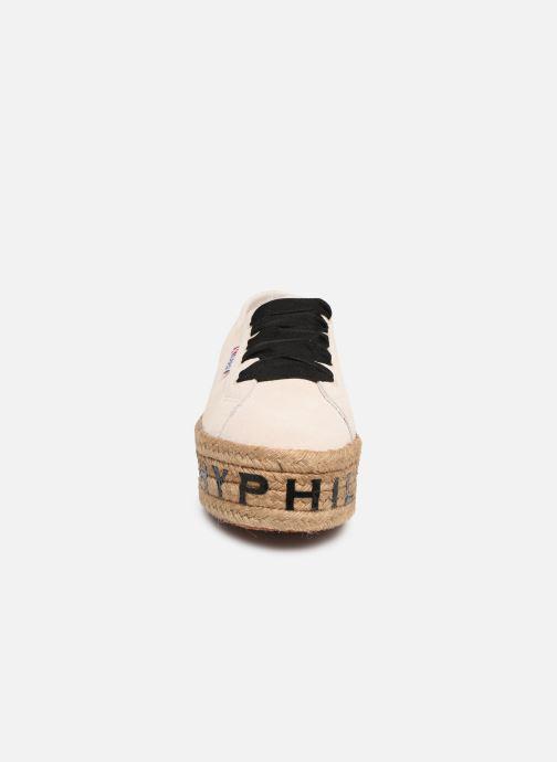 Baskets Philosophy x Superga Giulia Blanc vue portées chaussures
