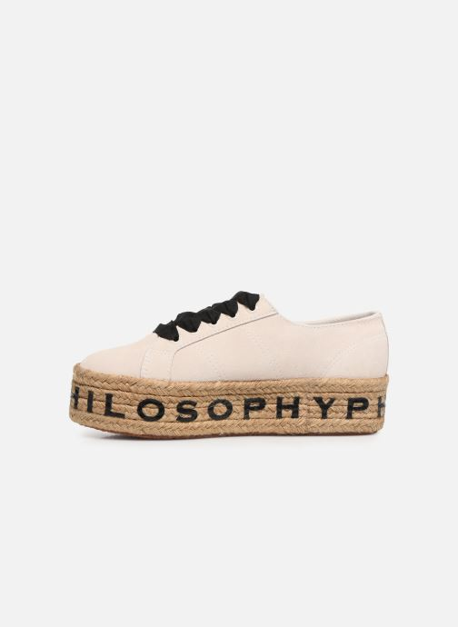 Baskets Philosophy x Superga Giulia Blanc vue face