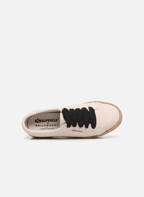 Baskets Philosophy x Superga Giulia Blanc vue gauche