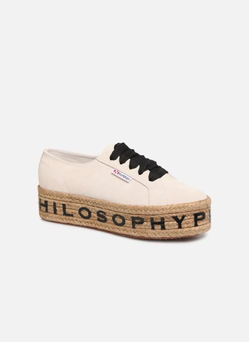 Baskets Philosophy x Superga Giulia Blanc vue détail/paire