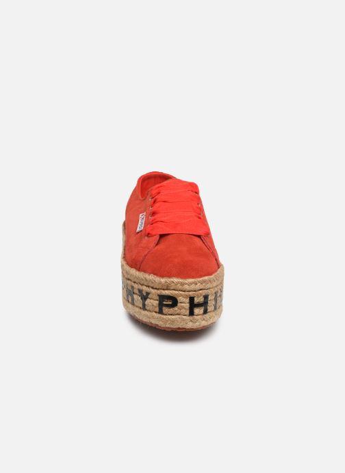 Baskets Philosophy x Superga Giulia Rouge vue portées chaussures