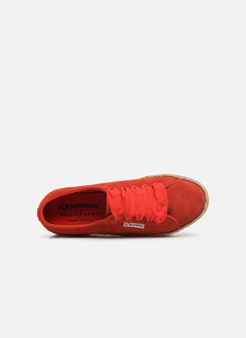 Sneakers Philosophy x Superga Giulia Rosso immagine sinistra