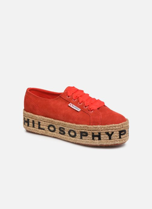 Trainers Philosophy x Superga Giulia Red detailed view/ Pair view