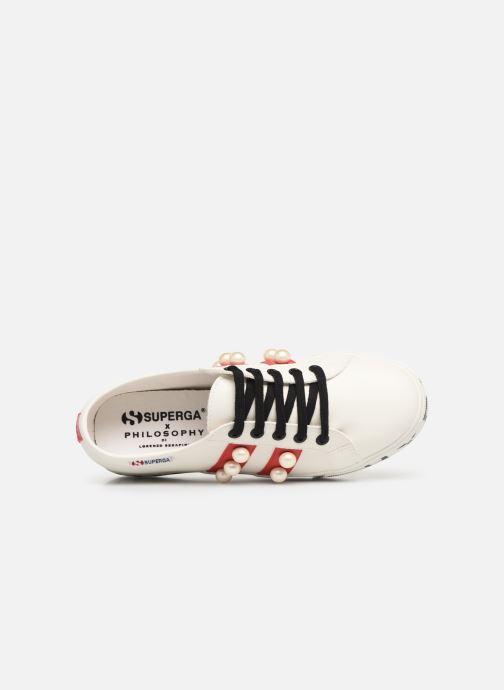 Sneaker Philosophy x Superga Aurora weiß ansicht von links