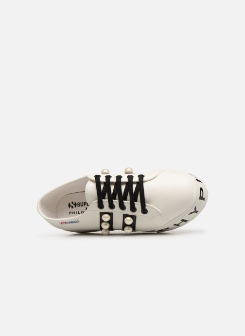 Baskets Philosophy x Superga Aurora Blanc vue gauche