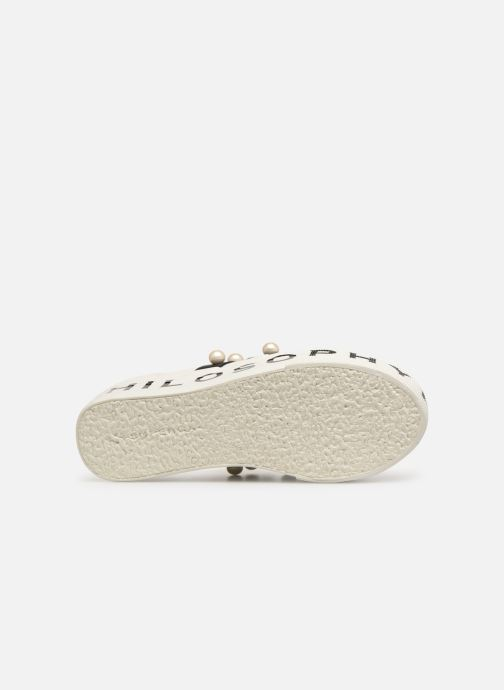 Baskets Philosophy x Superga Aurora Blanc vue haut