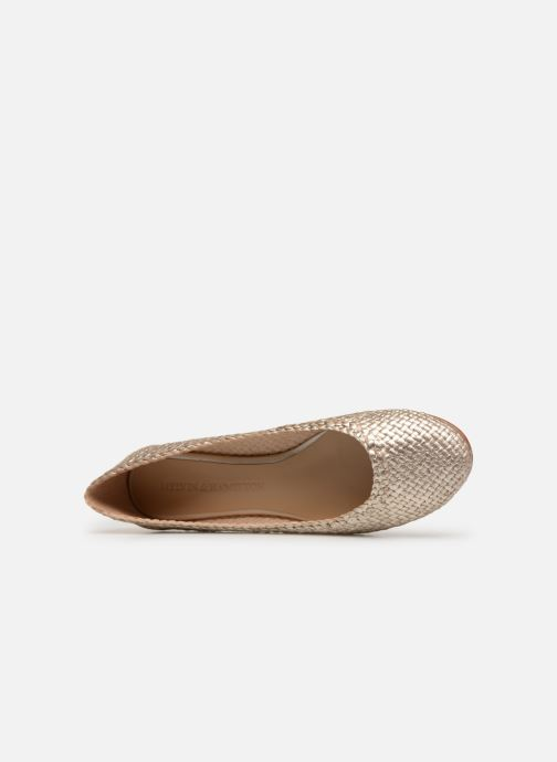 Ballet pumps Melvin & Hamilton KATE 5 Bronze and Gold view from the left