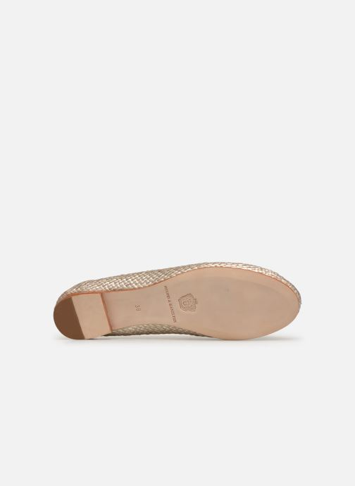 Ballet pumps Melvin & Hamilton KATE 5 Bronze and Gold view from above