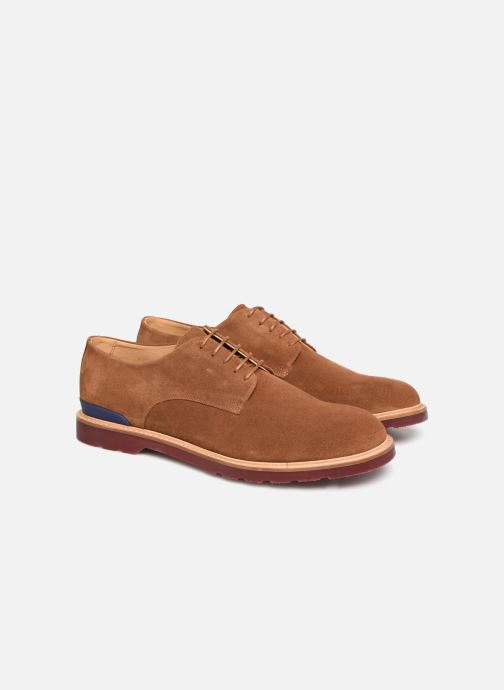 Chaussures à lacets PS Paul Smith Doogie Marron vue 3/4