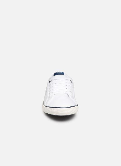 Baskets Pepe jeans Aberman Print Blanc vue portées chaussures