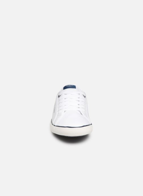 Sneaker Pepe jeans Aberman Print weiß schuhe getragen
