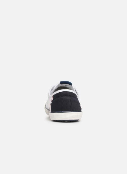 Baskets Pepe jeans Aberman Print Blanc vue droite