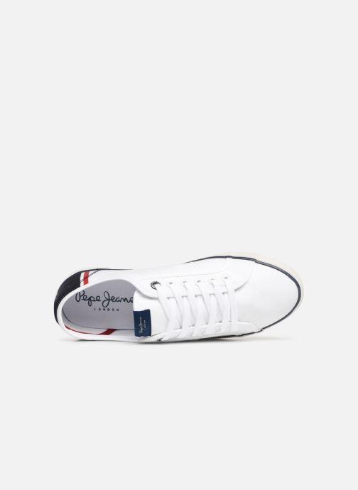 Baskets Pepe jeans Aberman Print Blanc vue gauche