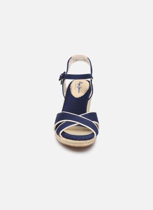 Espadrilles Pepe jeans Shark Plain Bleu vue portées chaussures