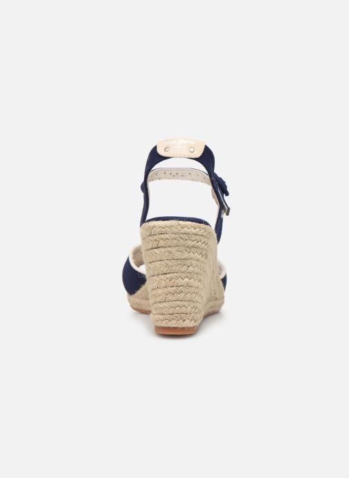 Espadrilles Pepe jeans Shark Plain Bleu vue droite