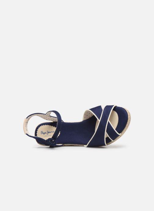Espadrilles Pepe jeans Shark Plain Bleu vue gauche