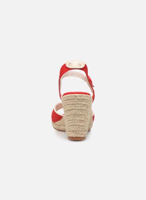 Scarpe di corda Pepe jeans Shark Plain Rosso immagine destra