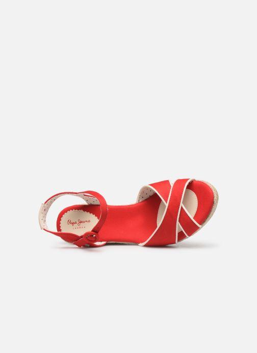 Scarpe di corda Pepe jeans Shark Plain Rosso immagine sinistra