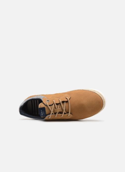 Trainers Pepe jeans Maui Ker Brown view from the left
