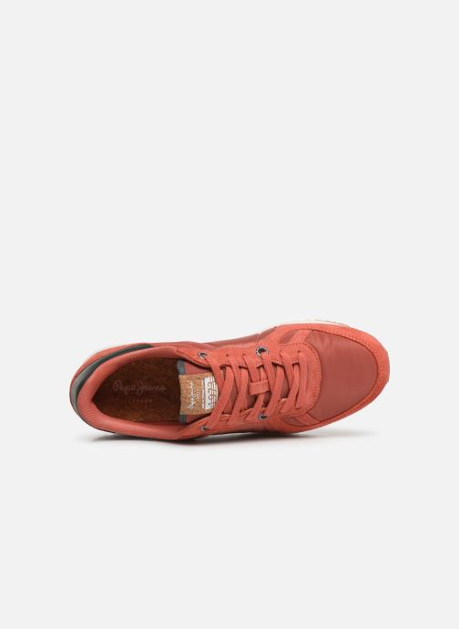 Baskets Pepe jeans Tinker Pro Premiun Rouge vue gauche