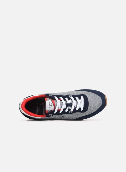 Baskets Pepe jeans Tinker Basic Fabric Bleu vue gauche
