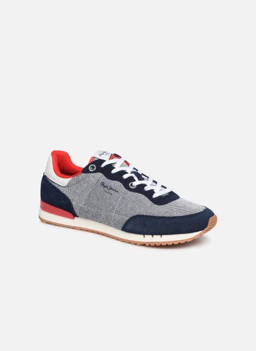 Baskets Pepe jeans Tinker Basic Fabric Bleu vue détail/paire