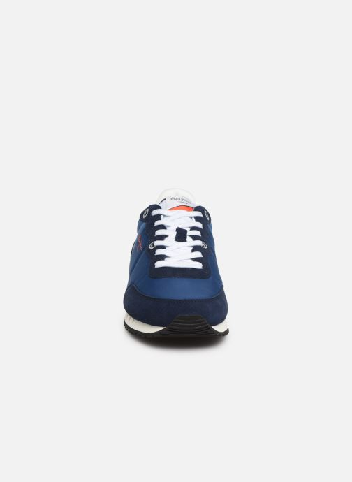 Baskets Pepe jeans Tinker Basic Nylon Bleu vue portées chaussures