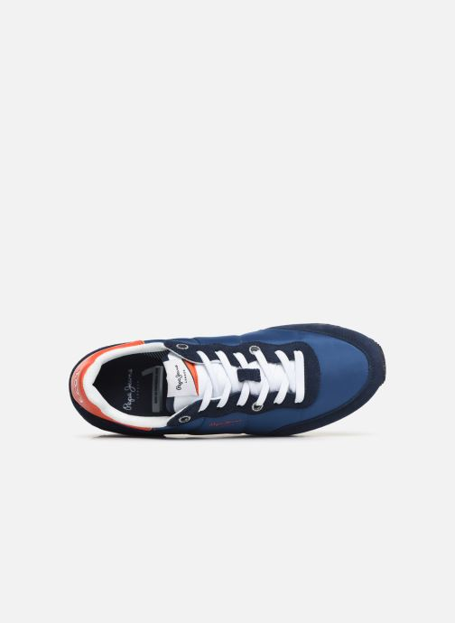 Baskets Pepe jeans Tinker Basic Nylon Bleu vue gauche