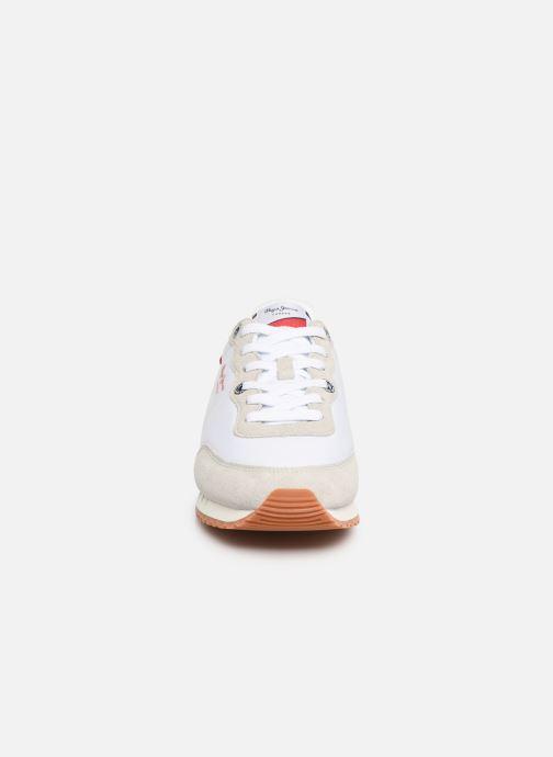 Baskets Pepe jeans Tinker Basic Nylon Blanc vue portées chaussures