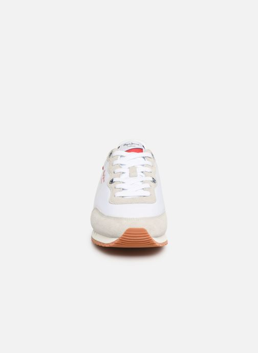 Baskets Pepe jeans Tinker Basic Nylon Blanc vue portées chaussures