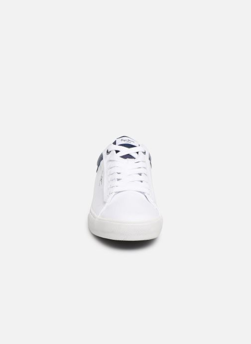 Baskets Pepe jeans North Court Blanc vue portées chaussures