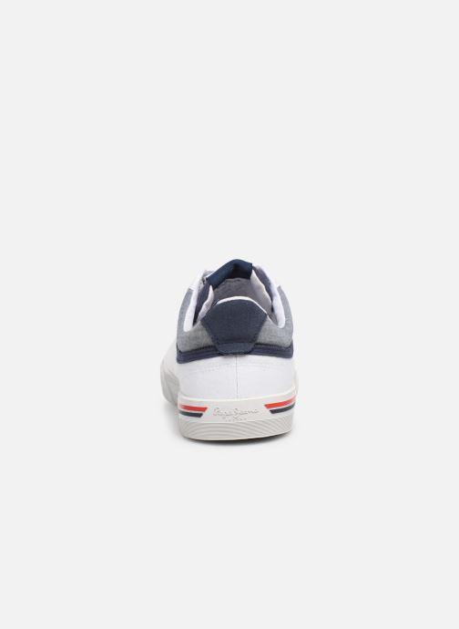 Baskets Pepe jeans North Court Blanc vue droite