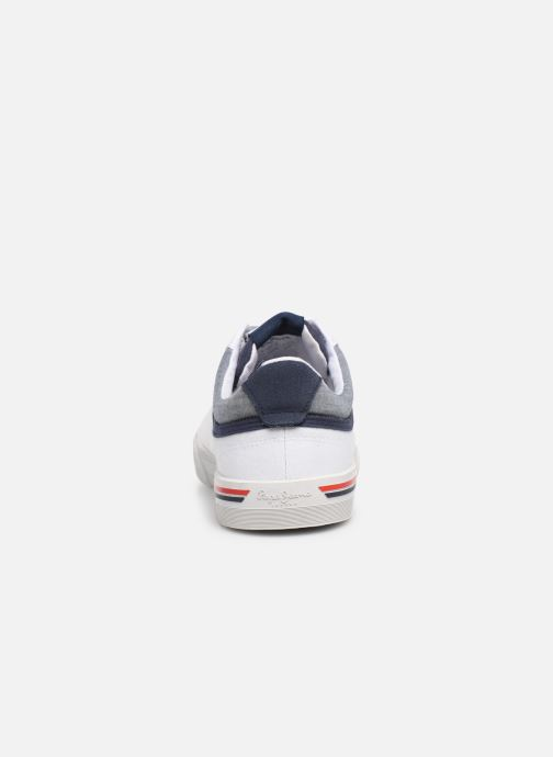 Trainers Pepe jeans North Court White view from the right