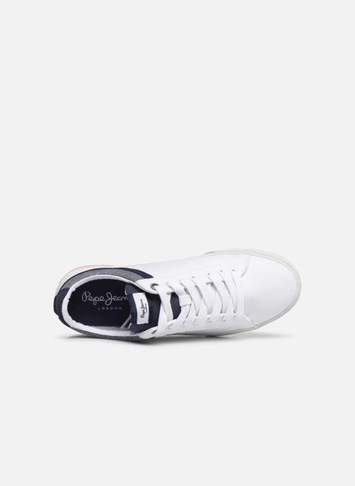 Baskets Pepe jeans North Court Blanc vue gauche