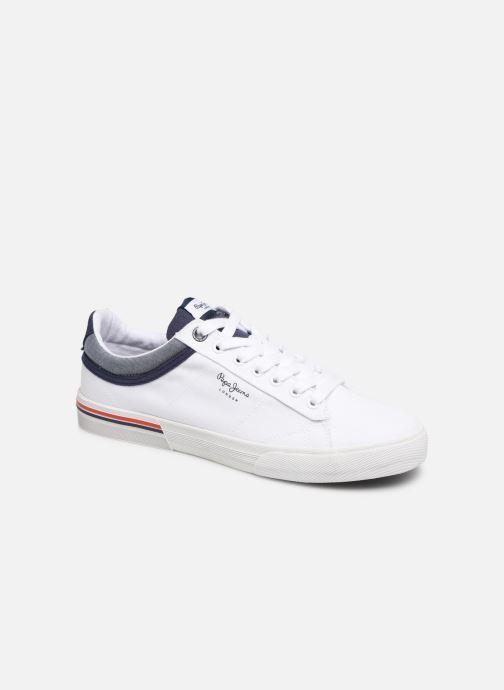 Baskets Pepe jeans North Court Blanc vue détail/paire