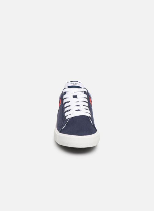 Baskets Pepe jeans North Half Bleu vue portées chaussures