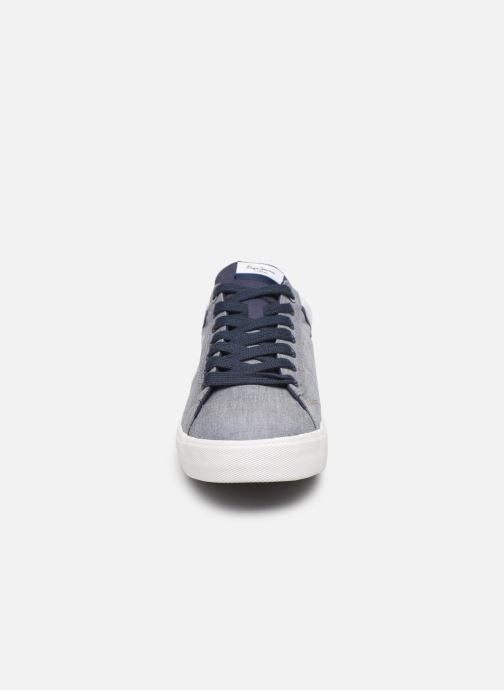 Baskets Pepe jeans North Court Chambray Bleu vue portées chaussures