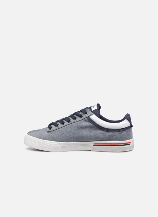 Baskets Pepe jeans North Court Chambray Bleu vue face