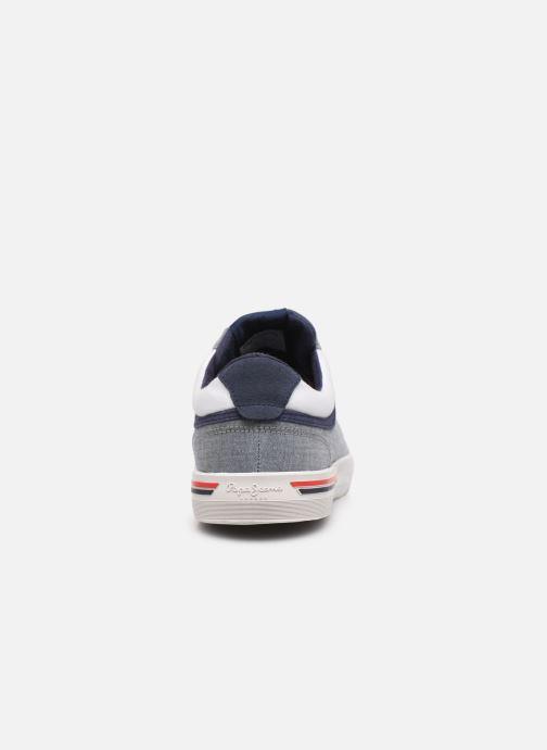 Sneaker Pepe jeans North Court Chambray blau ansicht von rechts