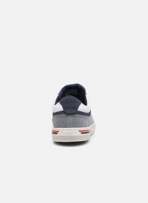 Deportivas Pepe jeans North Court Chambray Azul vista lateral derecha
