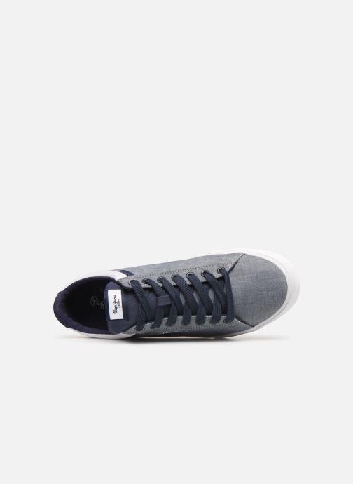 Sneaker Pepe jeans North Court Chambray blau ansicht von links