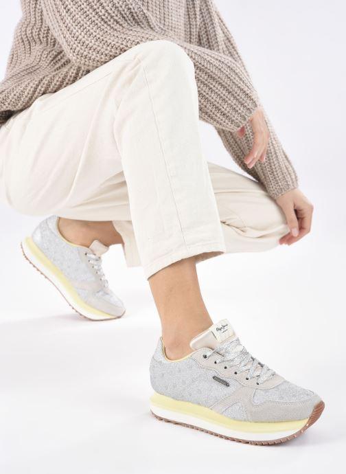 Baskets Pepe jeans Zion Remake Argent vue bas / vue portée sac
