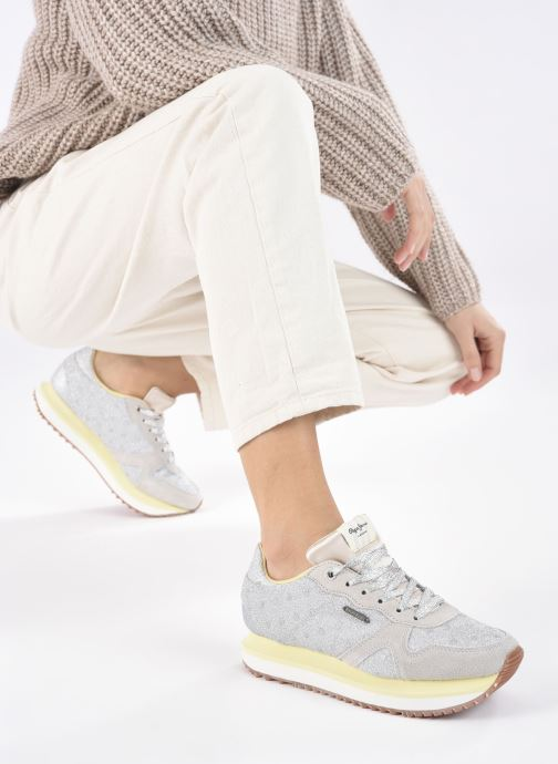 Sneakers Pepe jeans Zion Remake Argento immagine dal basso