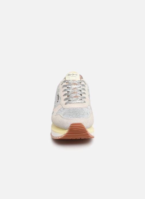 Baskets Pepe jeans Zion Remake Argent vue portées chaussures