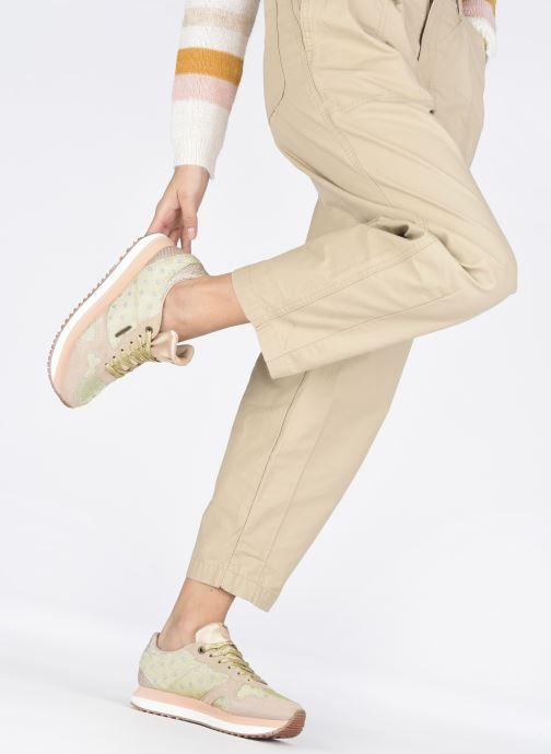 Baskets Pepe jeans Zion Remake Or et bronze vue bas / vue portée sac