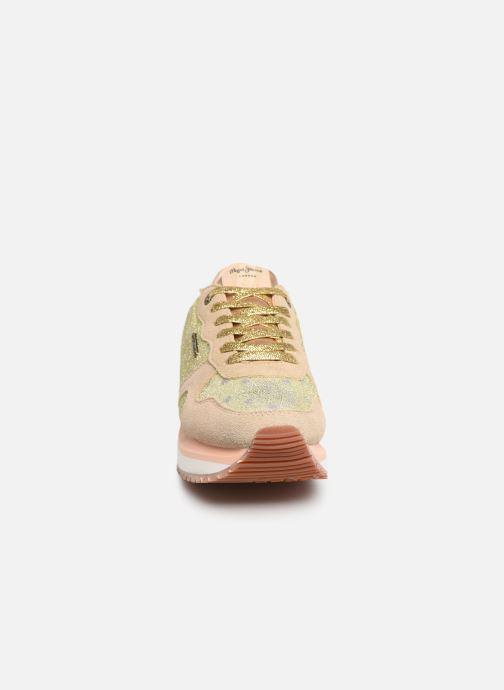 Baskets Pepe jeans Zion Remake Or et bronze vue portées chaussures