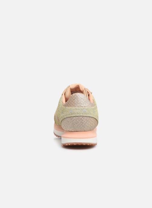 Baskets Pepe jeans Zion Remake Or et bronze vue droite