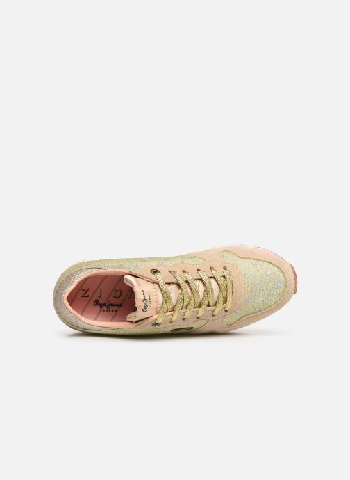 Baskets Pepe jeans Zion Remake Or et bronze vue gauche