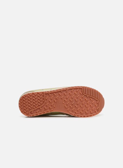 Baskets Pepe jeans Zion Remake Or et bronze vue haut